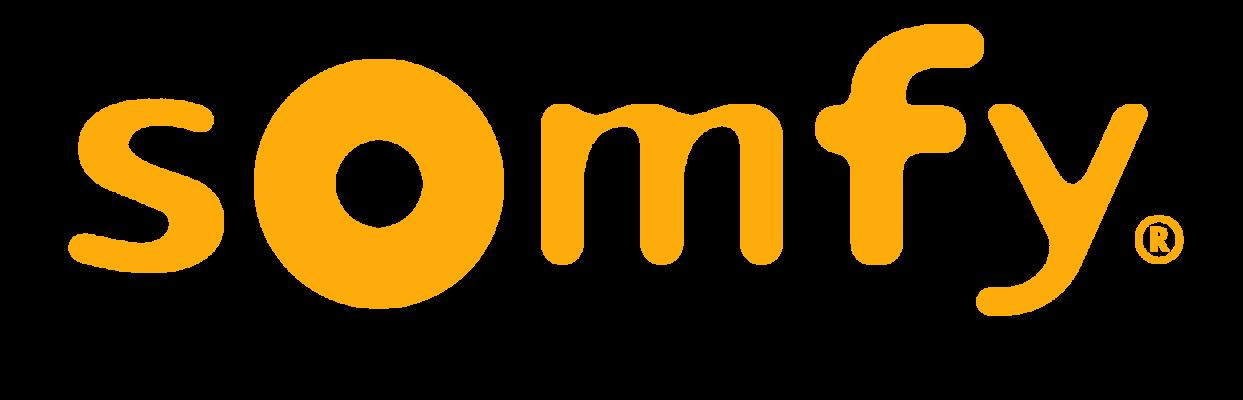 Logo officiel jaune Somfy